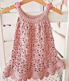 Paid crochet pattern available at Ravelry: Chantilly Lace Sundress pattern by Mon Petit Violon Baby Patterns, Dress Patterns, Crochet Patterns, Style Patterns, Shawl Patterns, Summer Patterns, Crochet Ideas, Crochet Hooks, Knit Crochet