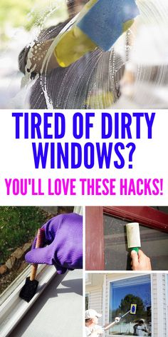 16 Window Cleaning Tips for the Cleanest Windows EVER Clean grimy windows for a gorgeous streak-free shine. It's not as difficult or time consuming as you'd think when you use these easy window cleaning tips. Window Cleaning Tips, Household Cleaning Tips, Deep Cleaning Tips, Toilet Cleaning, House Cleaning Tips, Diy Cleaning Products, Spring Cleaning, Cleaning Hacks, Diy Hacks