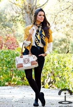 Mango  Jackets, Chanel  Scarves / Echarpes and Blanco  Shirt / Blouses
