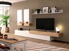 Small Living Room Layout, Living Room Wall Units, Living Room Tv Unit Designs, Small Living Rooms, New Living Room, Living Room Decor, Home Room Design, Interior Design Living Room, Furniture Design