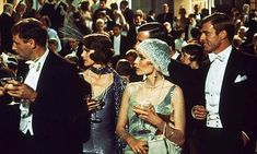 Flapper decadence. Mia Farrow and Robert Redford in the Great Gatsby (1974)