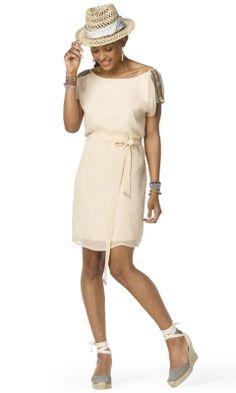 Lizzie Silk Dress - Club Monaco Dresses - Club Monaco Perfect summer wedding guest dress.