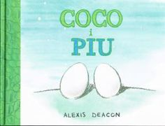 """""""Coco y Pío""""    Sobre la arena, muy juntos, hay dos huevos. Cuando los hermanos salen del huevo aparecen un pájaro… y un cocodrilo. Pero un pájaro y un cocodrilo no pueden ser hermano, ¿no? Un libro encantador que trata sobre encontrar la familia de verdad."""