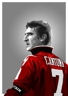 'Erik Cantona - MUFC' Poster by barrymasterson Manchester United Soccer, Manchester United Legends, Best Football Team, Sport Football, Nike Soccer, Soccer Cleats, Cristano Ronaldo, Cristiano Ronaldo Lionel Messi, Neymar
