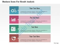 Business Icons For Result Analysis Flat Powerpoint Design