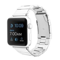 - Precisely made 316L stainless steel alloy watch armband, best fit with your Apple Watch. - Double button design, secure your Apple Watch and prevent touching the button by mistake. - Fit wrist desig