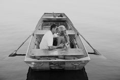 gorgeous rowboat engagement session