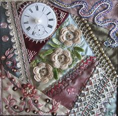 Stitch Around the Clock. Decemberblock for CQJP 2013. by Margreet from Holland