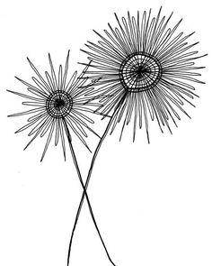 Black and white drawing - simple, modern (etsy seller SarahKnaack):