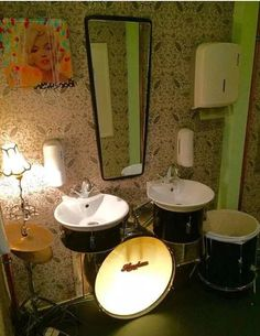 Great way to recycle a drum set.