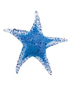 29d1c559bd688b Blue Textured Starfish Glass Figurine  zulilyfinds Glass Figurines