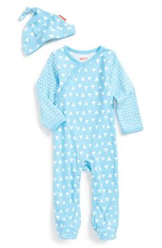 Skip Hop Print Wrap One-Piece & Hat (Baby Boys) available at #Nordstrom