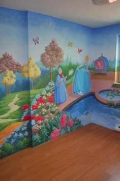 Wall art xxx on pinterest wall murals murals and for Disney princess ballroom wall mural