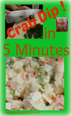 Easy 5 minute crab d