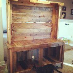 pallet wood entertainment center