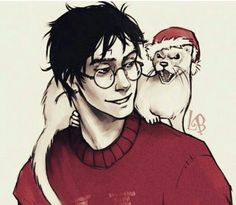 Harry and Draco as a ferret X33