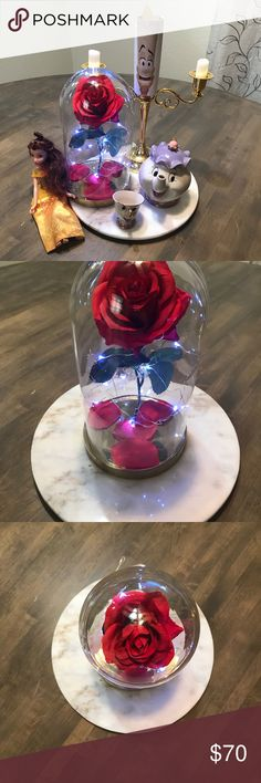 """Beauty And The Beast Enchanted Rose Handmade item This beautiful rose inspired by the movie, The Beauty and the Beast, is a perfect gift for an anniversary, Valentines day, birthday or any other special occasion!! """"ONLY SELLING ROSE"""" Other"""