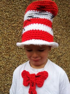 Cat in the Hat Crochet Pattern - FREE and fast :)