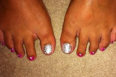Diamonds are a girls best friend  Swarovski crystal toes. Bling bling!!