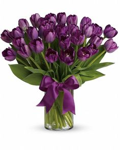 Passionate Purple Tulips - Send Flowers to Calgary