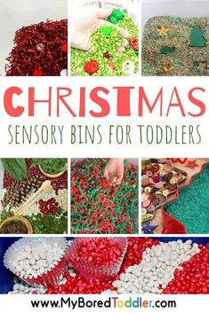 Christmas Sensory Bins for Toddlers Christmas Activities For Toddlers, Fine Motor Activities For Kids, Sensory Activities Toddlers, Christmas Crafts For Kids, Craft Activities, Interactive Activities, Family Activities, Kids Crafts, Easy Crafts