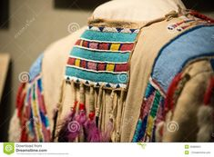 Native american beadwork stock photo. Image of leather - 45986904