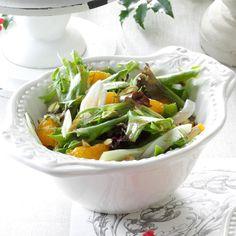 Fennel Salad with Orange-Balsamic Vinaigrette Recipe Simple Side Salad Recipe, Greek Salad Recipes, Salad Recipes For Dinner, Dinner Salads, Veggie Recipes, Veggie Food, Balsamic Vinaigrette Recipe, Tomato Sauce Recipe, Fennel Salad