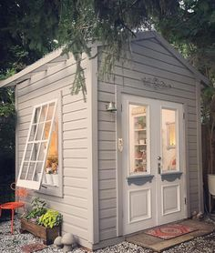 garden shed A She Shed is the perfect addition to any size backyard. Diy Storage Shed Plans, Backyard Storage Sheds, Wood Shed Plans, Backyard Sheds, Diy Shed, Outdoor Sheds, Garden Sheds, Outdoor Storage, Pool Shed
