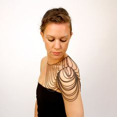This would look so incredible with my tattoo!  epaulette chain body jewelry // SPAULDER aka the by urbaneARMOR, $120.00