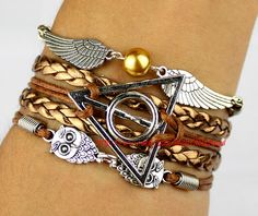 Harry potter the owl Bracelet fashion charm jewelry by itouchsoul, $5.99