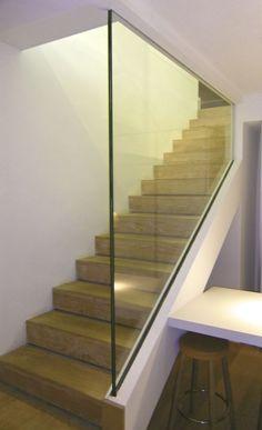 Garde-corps d'intérieur / en verre / à panneaux / pour escalier ALTO VERRE CLAIR Trescalini - Escaliers, structures et garde-corps