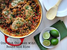 One-Pot Chicken with Beans and Rice | @Amy Lyons Lyons Lyons Green