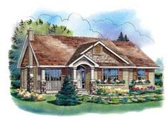 Country Style House Plans - 1394 Square Foot Home, 1 Story, 3 Bedroom and 2 3 Bath, 2 Garage Stalls by Monster House Plans - Plan 40-272