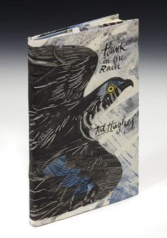 Original dust jacket by Mark Hearld for 'Hawk in the Rain' by Ted Hughes, 1957 (Faber and Faber). The artwork will be auctioned at 'The First Editions: Re-Covered' sale at Sotheby's to raise funds for the House of Illustration. Book Cover Design, Book Design, Glasgow School Of Art, Indie, House Illustration, Unique Paintings, Science Art, Hand Painted Ceramics, Linocut Prints