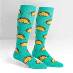 0df42d7ea Put these Taco-Saurus Socks - Knee Highs on anytime you need a little fiesta