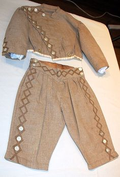 Striped Brown Wool Suit ca. Victorian Children's Clothing, Antique Clothing, Historical Clothing, Victorian Fashion, Vintage Fashion, Civil War Fashion, 1800s Fashion, 19th Century Fashion, Pioneer Clothing