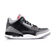 698a09f15272 Air Jordan 3 Black Cement 2011 ❤ liked on Polyvore featuring jordans