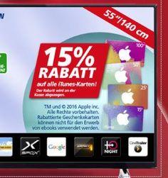 15 Rabatt auf iTunes-Karten bei Real & Saturn - https://apfeleimer.de/2016/05/15-rabatte-auf-itunes-karten-bei-real-saturn - Diese Woche könnt Ihr beim Kauf von neuem iTunes-Guthaben im Saturn und in Real Supermärkten sparen. Die Real Supermärkte und die Saturn-Elektromärkte gewähren ihren Kunden diese Woche ganze 15 Prozent Rabatt auf den Kauf einer iTunes-Guthabenkarte. Und das Beste: den Rabatt erhaltet Ihr nicht in...