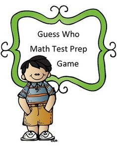 Math test prep made fun! In this test review game, students will answer 20 questions covering many concepts including: geometry, input/output tables, estimation, multiplication, division, addition, subtraction, measurement, multi-step word problems, decimals, fractions, volume, area, elapsed time, transformations, and interpreting bar graphs Their goal- to answer as many questions correctly as possible because each question gives them a guess when they begin to play guess who against a…
