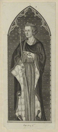 King Henry III  (1207-1272); son of King John, he became king at the age of nine in 1216.