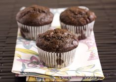 Banana Chocolate Muffins by handleheat. I replaced some of the flour with unflavored protein powder and they still came out delicious.