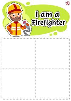 Sort and Classify Mats I am a Firefighter Community Helpers Preschool, Preschool Education, Preschool Learning Activities, Book Activities, Kids Learning, Science Education, Physical Education, Preschool Crafts, Daughters Of Charity