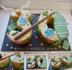 Harry Potter Slytherin Birthday Cake