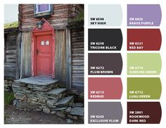 Historic Norwegian Dwelling Inspiration for Exterior Home Color and Landscape Plantings Chip It! by Sherwin-Williams – Home