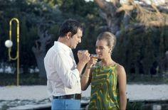 "Maurice Ronet & Romy Schneider in ""La Piscine"" by Jacques Deray"