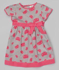 Look at this #zulilyfind! Pink & Gray Kitten Karrina Dress - Infant & Toddler #zulilyfinds