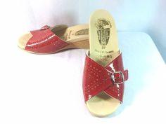 Worishofer Comfort Slide On Sandal Red Patent 251 Sandal Size 6.5 US 37 EUR 4 UK #Worishofer #PlatformsWedges