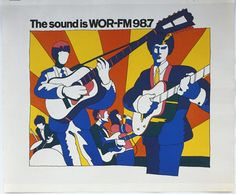 Milton Glaser  The Sound is WOR-FM 98.7, 1966 Lithograph, 114.6 x 148.6 cm