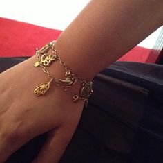 Gold Hamsa Dubai Fashion jewellery. My Lucky charm bracelet