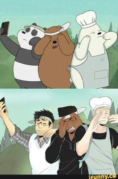 Quick little fanart of We Bare Bears! Anime Vs Cartoon, Cartoon Shows, Cartoon Art, Cartoon Characters As Humans, Anime Characters, We Bare Bears Human, Desenhos Cartoon Network, Character Art, Character Design